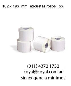102 x 196  mm  etiquetas rollos Top