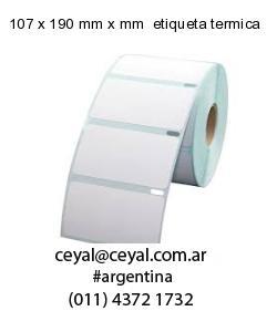 107 x 190 mm x mm  etiqueta termica