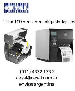 111 x 199 mm x mm  etiqueta top termicas
