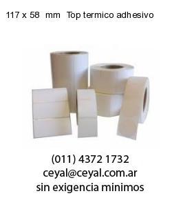 117 x 58  mm  Top termico adhesivo