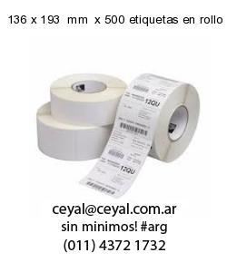 136 x 193  mm  x 500 etiquetas en rollo