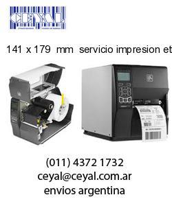 141 x 179  mm  servicio impresion etiquetas numeradas