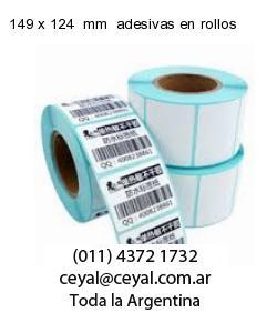 149 x 124  mm  adesivas en rollos