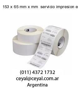 153 x 65 mm x mm  servicio impresion etiquetas correlativas