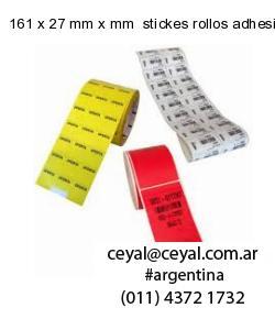 161 x 27 mm x mm  stickes rollos adhesivos