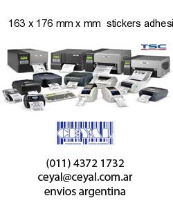 163 x 176 mm x mm  stickers adhesivos en rollos