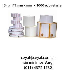 184 x 113 mm x mm  x 1000 etiquetas en rollo