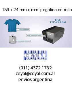 189 x 24 mm x mm  pegatina en rollo