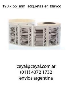 190 x 55  mm  etiquetas en blanco