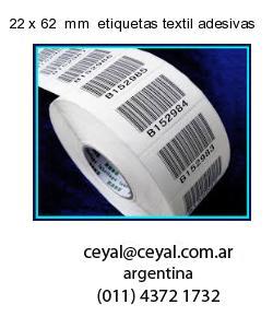 22 x 62  mm  etiquetas textil adesivas