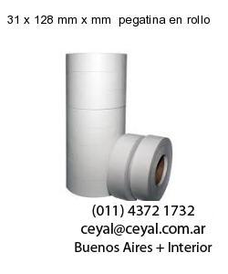 31 x 128 mm x mm  pegatina en rollo
