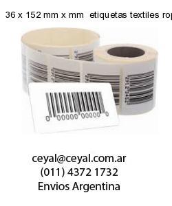 36 x 152 mm x mm  etiquetas textiles ropa