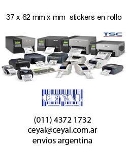 37 x 62 mm x mm  stickers en rollo