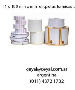 41 x 186 mm x mm  etiquetas termicas congelado