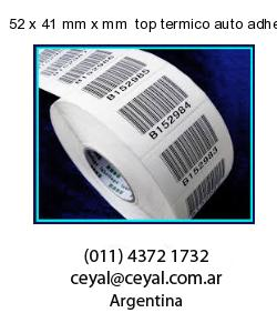 52 x 41 mm x mm  top termico auto adhesivo top termico adesivo