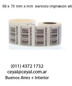 59 x 73 mm x mm  servicio impresion etiquetas correlativas