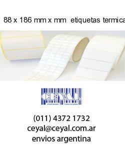 88 x 186 mm x mm  etiquetas termicas congelado