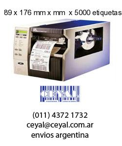 89 x 176 mm x mm  x 5000 etiquetas en rollo