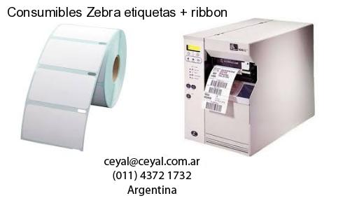 Consumibles Zebra etiquetas   ribbon