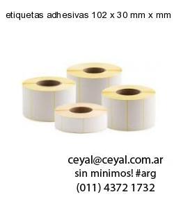 etiquetas adhesivas 102 x 30 mm x mm