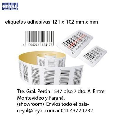 etiquetas adhesivas 121 x 102 mm x mm