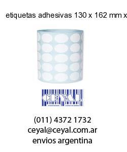etiquetas adhesivas 130 x 162 mm x mm