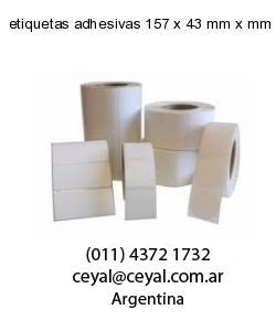 etiquetas adhesivas 157 x 43 mm x mm
