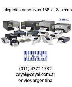 etiquetas adhesivas 158 x 181 mm x mm