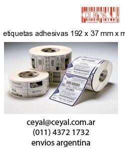 etiquetas adhesivas 192 x 37 mm x mm
