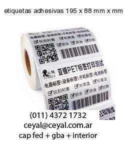 etiquetas adhesivas 195 x 88 mm x mm
