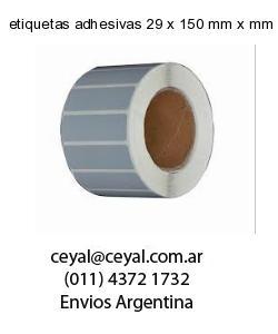 etiquetas adhesivas 29 x 150 mm x mm