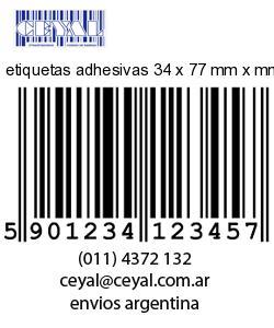 etiquetas adhesivas 34 x 77 mm x mm
