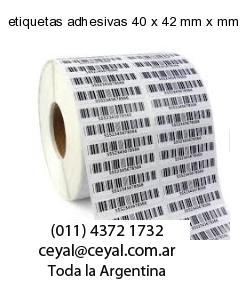 etiquetas adhesivas 40 x 42 mm x mm