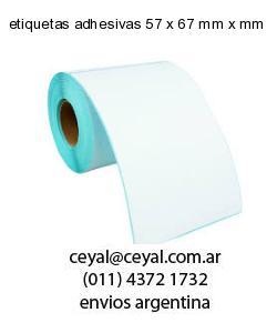etiquetas adhesivas 57 x 67 mm x mm
