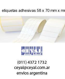 etiquetas adhesivas 58 x 70 mm x mm