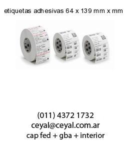 etiquetas adhesivas 64 x 139 mm x mm