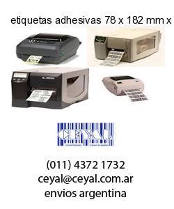 etiquetas adhesivas 78 x 182 mm x mm