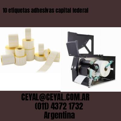 10 etiquetas adhesivas capital federal