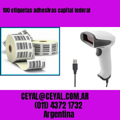100 etiquetas adhesivas capital federal