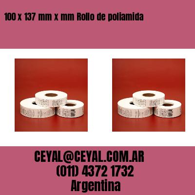 100 x 137 mm x mm Rollo de poliamida