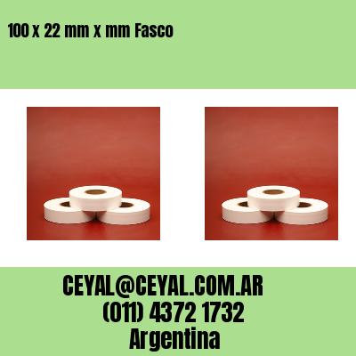 100 x 22 mm x mm Fasco