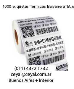 1000 etiquetas Termicas Balvanera  Buenos Aires