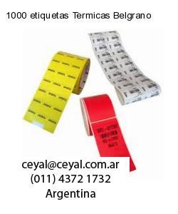 1000 etiquetas Termicas Belgrano
