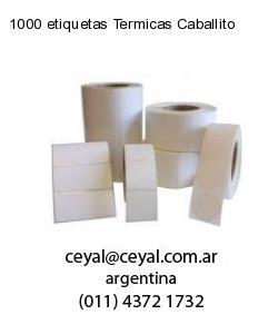 1000 etiquetas Termicas Caballito