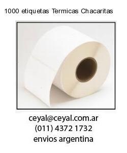 1000 etiquetas Termicas Chacaritas