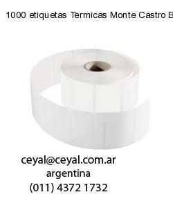 1000 etiquetas Termicas Monte Castro Buenos Aires