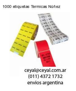 1000 etiquetas Termicas Núñez