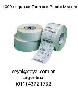 1000 etiquetas Termicas Puerto Madero  Buenos Aires