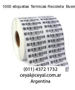 1000 etiquetas Termicas Recoleta  Buenos Aires