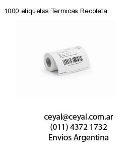 1000 etiquetas Termicas Recoleta